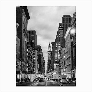 Broadway B&W Canvas Print