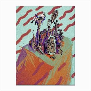 Bath Dusk Canvas Print