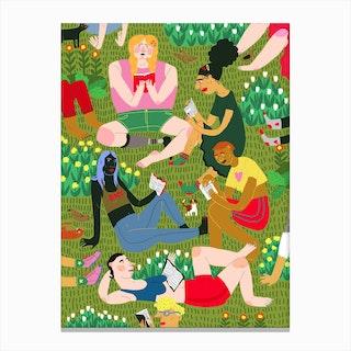 Summer Reading Club Canvas Print