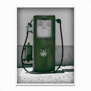 Vintage America Dark Green Gas Pump Canvas Print