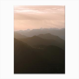 Mountain Layer Sunrise Canvas Print