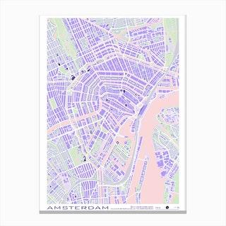 Amsterdam Violet Canvas Print