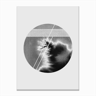 Lines and Circle Canvas Print
