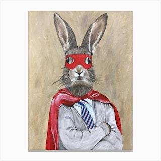 Super Rabbit Canvas Print
