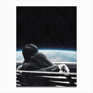 Space Love Canvas Print
