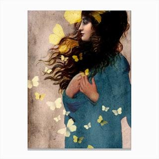 Bye-Bye Butterfly Canvas Print