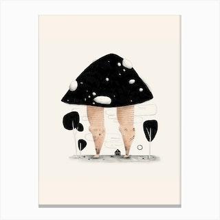 Mushroom Legs Canvas Print