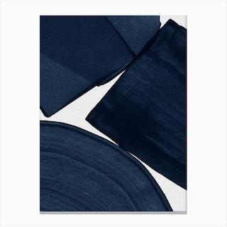 Minimalist Painting Blue Ii Canvas Print