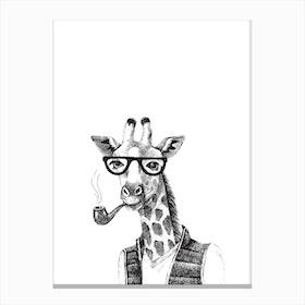 Hipster Giraffe Canvas Print