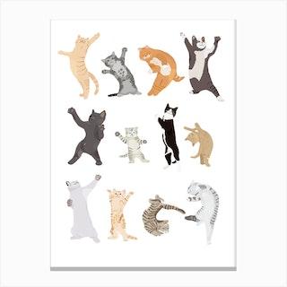 Dancing Cats Canvas Print