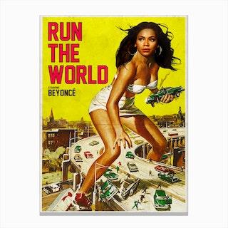 RUN THE WORLD Canvas Print