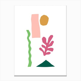 Cut Out Basic Desert Canvas Print