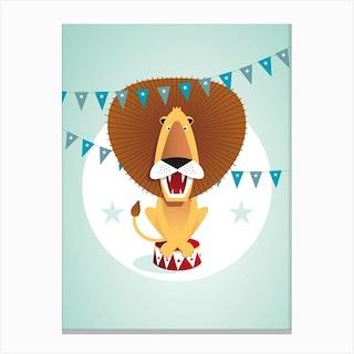 Circus Lion Canvas Print