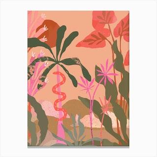 Sunbaked Pink Jungle Canvas Print