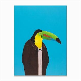 Toucan In Suit Canvas Print