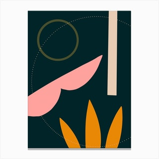 Abstract Shapes Dark Canvas Print