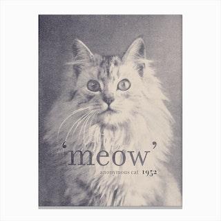 Famous Quotes Cat Canvas Print