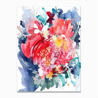 Floral Hug Canvas Print