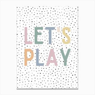 Let'S Play Polka Dot Canvas Print