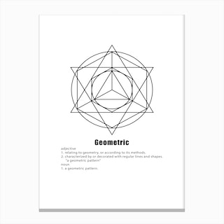 Circle and Star Geometric Meaning Canvas Print