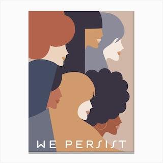 Girl Power We Persist Earthy Canvas Print