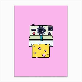 Say Cheese Pink Canvas Print
