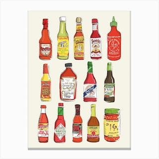 Hot Sauce Canvas Print