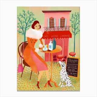 Bistro Anisette Canvas Print