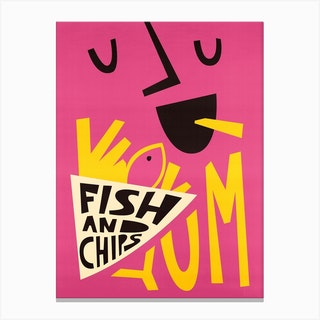 Yum Fish And Chips Canvas Print