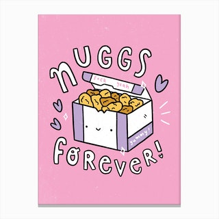 Chicken Nuggets Forever Canvas Print
