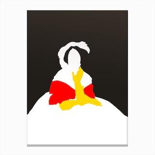 Pop Portrait · Ingres 3 Canvas Print