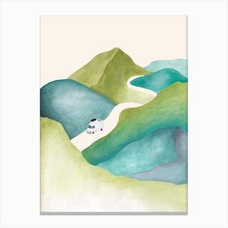 Mountain Road Trip Canvas Print