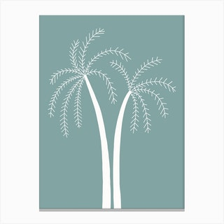 Palm Tree At Day Canvas Print