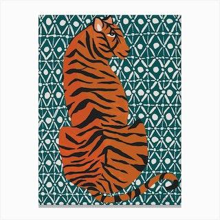 Patterned Tiger Canvas Print