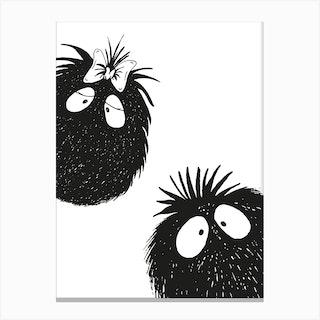 Peekaboo Couple 1 Canvas Print