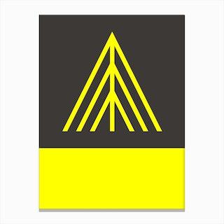 Monte Rosa Yellow Canvas Print