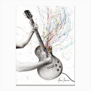 The Star Guitar Canvas Print