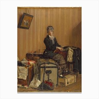 Adieu Paris The Customs, Antonio Mancini Canvas Print