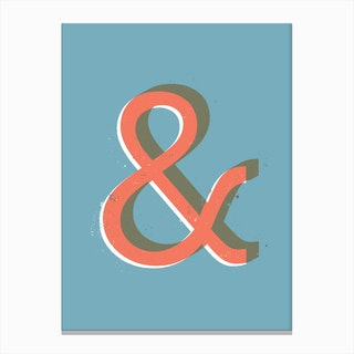 Ampersand Colour Canvas Print