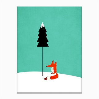 Little Mister Fox Canvas Print