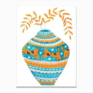 Tiger Pot Canvas Print