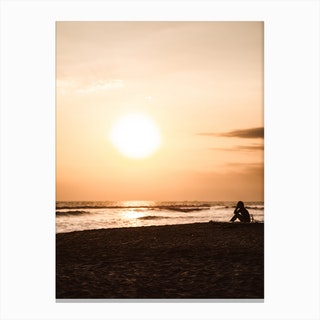 Sunset Beach 2 Canvas Print