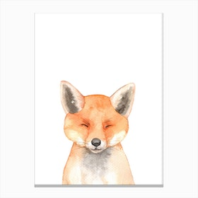 Nursery Fox Canvas Print