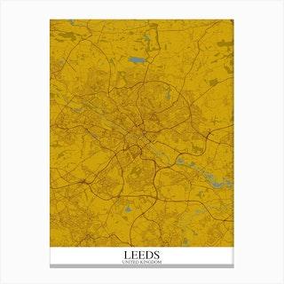 Leeds Yellow Blue Canvas Print