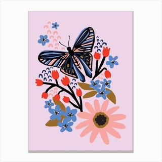 Day Butterfly Canvas Print