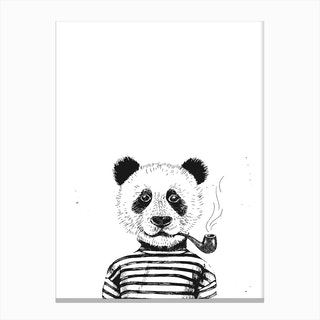 Hipster Panda Canvas Print