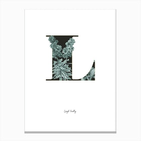 Flower Alphabet L Canvas Print