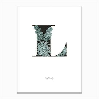 Flower Alphabet L Canvas Print