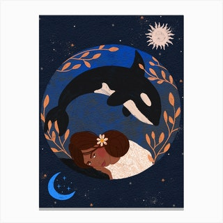 Orca Girl Canvas Print