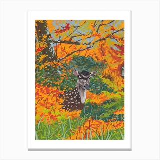 Oh Deer Autumn Canvas Print